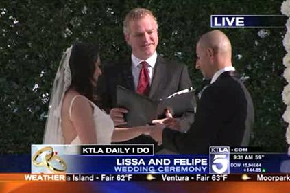 LA wedding officiant KTLA